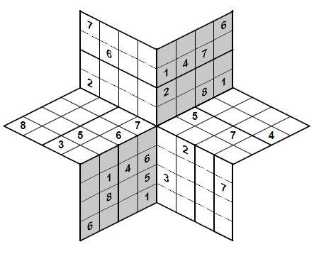 3D Sudoku Snowflake Star